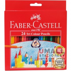 FABER-CASTELL TRI COLOUR PENCIL - 24 Colours