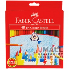 FABER-CASTELL TRI COLOUR PENCIL - 48 Colours