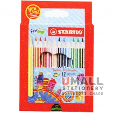 STABILO Swans Premium Edition 3.8mm - 12 Colors Malaysia Penang Online Stationery Store