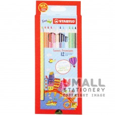 STABILO Swans Premium Edition 3.8mm - 12 Colors - long Malaysia Penang Online Stationery Store
