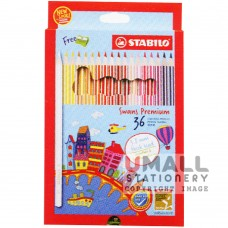 STABILO Swans Premium Edition 3.8mm - 36 Colors Malaysia Penang Online Stationery Store