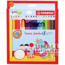 STABILO Swans Jumbo - 18 Colors Malaysia Penang Online Stationery Store