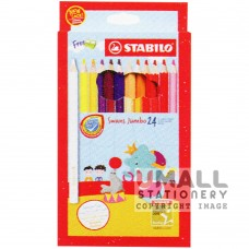 STABILO Swans Jumbo - 24 Colors Malaysia Penang Online Stationery Store