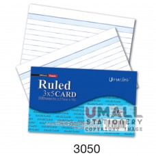 3050 - RULED CARD 3 x 5, Packing: 100's x 10