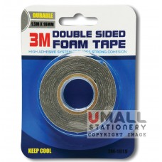 3M DOUBLE SIDED FOAM TAPE 1.5m X18mm