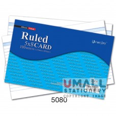 5080 - RULED CARD 5 x 8, Packing: 100's x 10