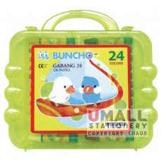 BUNCHO - GABANG 24 Oil Pastels, Packing: 6 sets/box