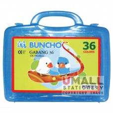 BUNCHO - GABANG 36 Oil Pastels, Packing: 6 sets/box