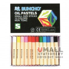 BUNCHO Oil Pastels FG-PS12, small size sticks, Packing: 12 sets/box