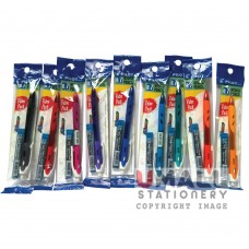 PILOT REXGRIP Value Pack Mechanical Pencil with 12pcs 2B leads- Black/ Blue/ Red/ Green/ Violet/ Orange/ Pink/ Yellow/ Soft Blue