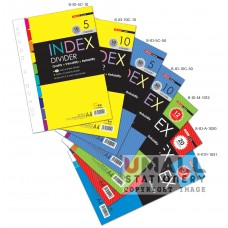 S-ID-5C-10 - 5 colours index divider 10's