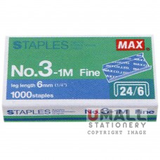 MAX Handy & Desktop Staples 	No.3-1M