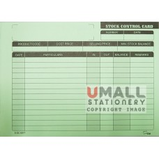 S6077 - Stock Control Card, Packing: 30's x 20