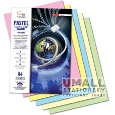 S57 - PASTEL 2 SHEET CARD 5 cols 120gm