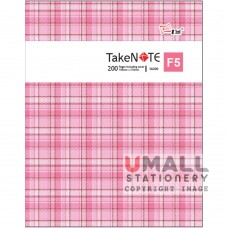 S6200 - TakeNote PVC Notebook F5 200pgs Malaysia Penang Online Stationery Store