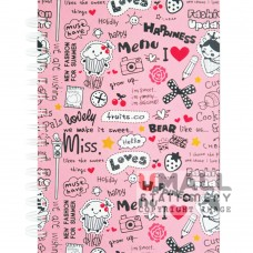 S8524 - Ring Note Book PASTEL COL PAPER