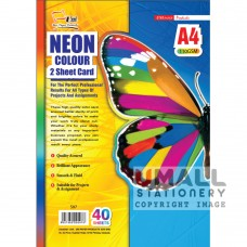 S97 - NEON COLOUR TWO SHEET CARD 110gm