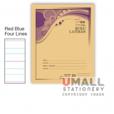 SBL8081 - Buku Latihan - Red Blue Four Lines