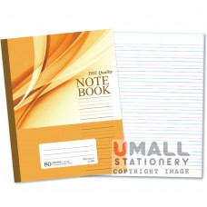 SBL808 - The Quality Note Book(red blue 4 l ine), 80 pages