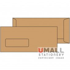 BROWN ENVELOPE 4 X 9 - WINDOW, Packing: 25pkts