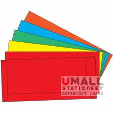 COLOUR ENVELOPE 4 X 9, Packing: 25pkts