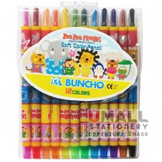 BUNCHO Soft Color Pencil 12 colors Malaysia Penang Online Stationery Store