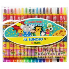 BUNCHO Soft Color Pencil 18 Colours Malaysia Penang Online Stationery Store