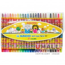 BUNCHO Soft Color Pencil 24 Colours Malaysia Penang Online Stationery Store