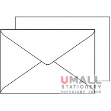 WHITE ENVELOPE 6.25 X 4.25, Packing: 25pkts