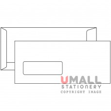 WHITE ENVELOPE 4 X 9 - WINDOW, Packing: 25pkts