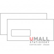 WHITE ENVELOPE 4.5 X 9.75 - WINDOW, Packing: 25pkts
