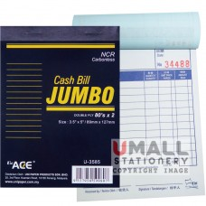 "U3585 - JUMBO CASH BILL (NCR), 3.5"" x 5"", 2 ply"