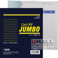 "U6785 - JUMBO CASH BILL (NCR), 6"" x 7"", 2 ply"