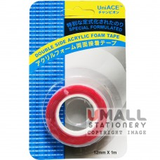 UniACE DOUBLE SIDED ACRYLIC TAPE 12mm X 1m