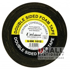 UniCLASSIC DOUBLE SIDED FOAM TAPE 12mm x 10m