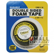 UniCLASSIC DOUBLE SIDED FOAM TAPE 12mm x 1m