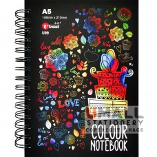 U99 - Ring Note Book 8 Assorted Color Paper