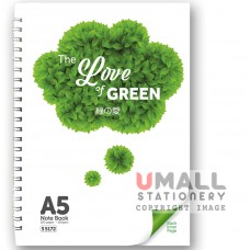 S5172 The Love of Green Note Book