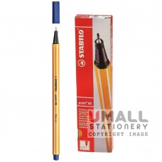 STABILO point 88 - Fineliner Cardboard Box - black, Packing: 10pcs/box