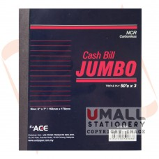 "U6786 - JUMBO CASH BILL (NCR), 6"" x 7"", 3 ply"
